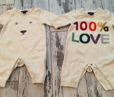 Lot Of 2 Baby Gap Layette Outfits Size 0-3 Months Boy Or Girl