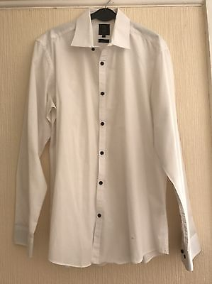 """Taylor & Wright Formal White Slim Fit Shirt 16"""""""