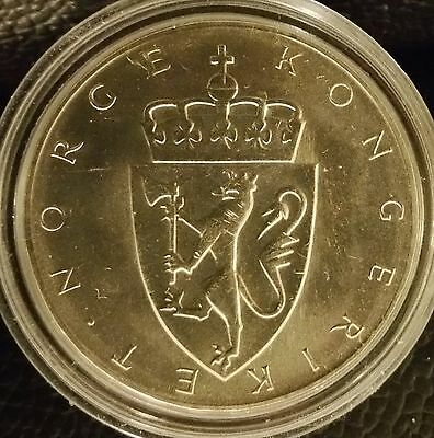 Brilliant Uncirculated/Prooflike Norway 1964 10 Kronor, Silver