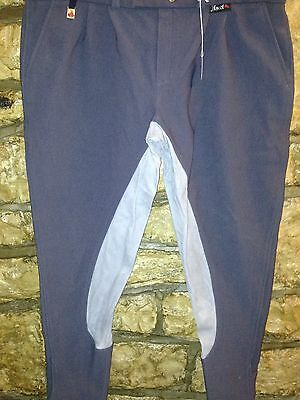 """+239 Ascot Gents Charcoal/grey Full Suede Seat 36""""w 48""""hip Breeches"""