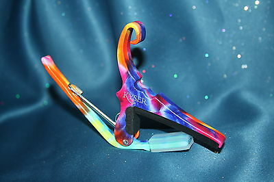 Kyser KG6TDA Quick Change Guitar Capo in Tie-Dye Finish