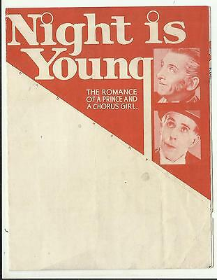 Usa Movie Herald-The Night Is Young With Ramon Novarro-Evelyn Laye-Una Markel.