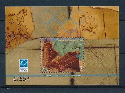 [54766] Bosnia Herzegovina 2004 Olympic games Athens Equestrian Horse MNH Sheet