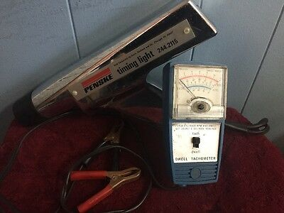 Vintage Sears Inductive Timing Light 244.2115 & Dwell Tachometer Tester