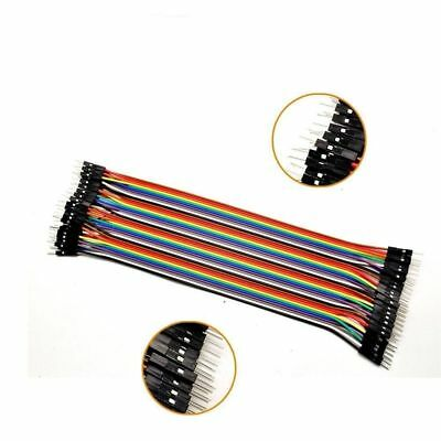 40pcs Dupont Wire Color Jumper Cable 2.54mm 1P-1P Male-Male For Arduino