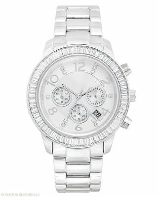 Silpada Finishing Touch Watch T2956 Stainless Steel and Cubic Zirconia  Preowned
