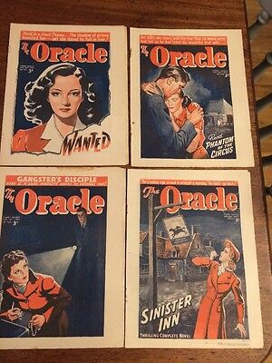 Four Vintage The Oracle 1946 Magazines