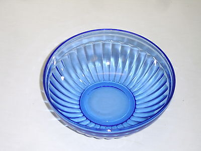 "Hazel Atlas Aurora Cobalt Blue Depression Glass 5 1/2"" Cereal Soup Bowl"