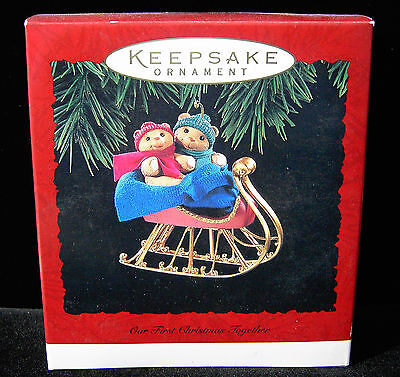 Hallmark Keepsake Ornament 1994 Our First Christmas Together 1st bears sleigh