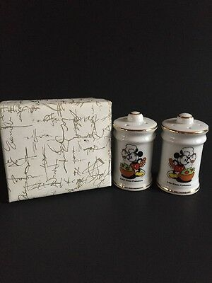 Vintage Mickey Mouse Salt and Pepper Shakers Walt Disney Productions Japan