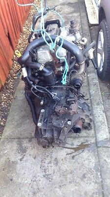 Transit connect 1.8 tdci complete engine and box 53-2004