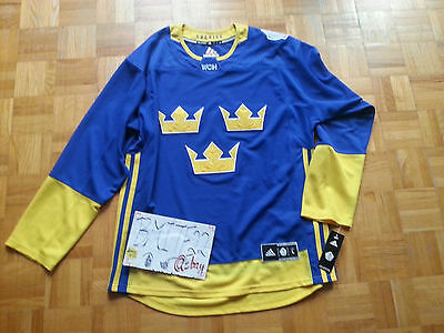 NWT Sweden World Cup 2016 Adidas Ice Hockey Premier Jersey Men Large