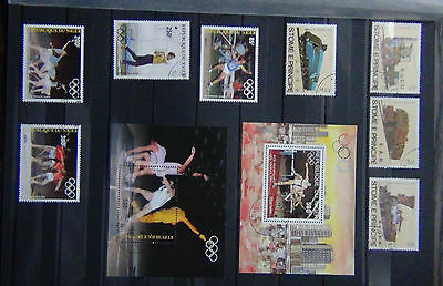 Niger 1983 Olympic Games set & M/S 1984 Olympic M/S Horses + Sao Tome Principe