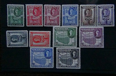 Somaliland Protectorate 1942 set complete to R5 MM SG105-116