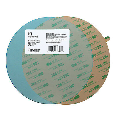 PEI Sheet Round with 3M 468MP Adhesive Tape for 3D Printer Build Plate Surface