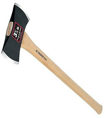 Truper 30524 3-1/2-Pound Double Bit Michigan Axe, Hickory Handle, 35-Inch