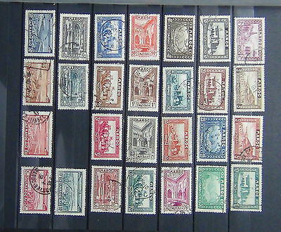 French Morocco 1933 values to 20F 1933 Air values to 10Fr Fine Used