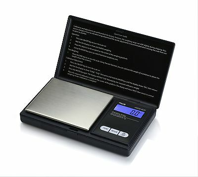 American Weigh Scales AWS-600-BLK Digital Personal Nutrition Scale, Pocket Size,