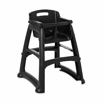 Rubbermaid Commercial Black Sturdy Chair Youth Seat without Wheels, 23.5-Inch Le
