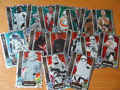 TOPPS STAR WARS ATTAX THE FORCE AWAKENS  HOLO FOILS 209-224 £1.30  per card