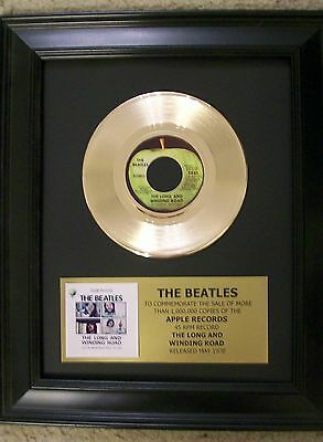 Beatles The Long and Winding Road Gold 45 Record + Mini Album Not a Award