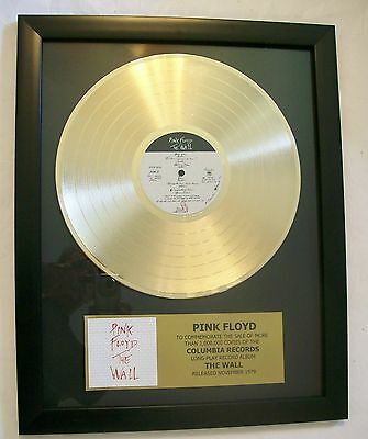 Pink Floyd THE WALL Gold LP Record + Mini Album Disc Not a Award + Plaque