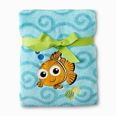 Disney Baby Finding Nemo Fleece Plush Blanket - Appliqued