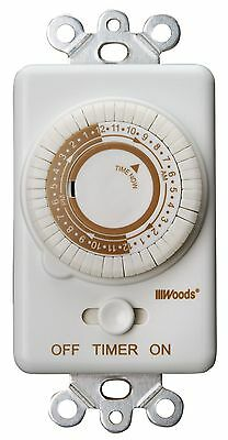 Woods 59745 Switch Timer Repeats Daily, 24-Hour Cycle, Convert Light Switch to T