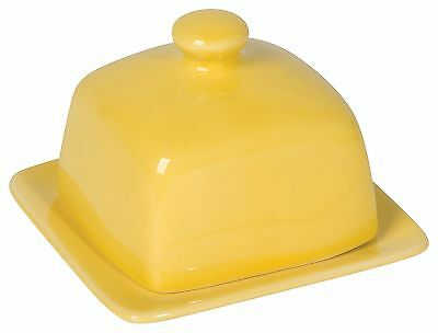 Now Designs Square Butter Dish, Lemon