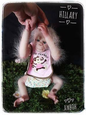 Hillary the Chimpanzee by Jade Warner Unpainted Reborn Baby kit Only Monkey