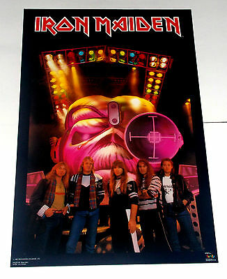 2 Vintage Iron Maiden Posters Lot, Rare And Vintage!