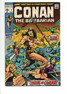 Conan the Barbarian #1 1970 BARRY SMITH ART! VF+ 8.5 HUGE AUCTION Going On Now