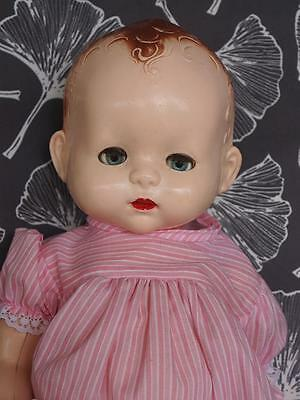 """Pedigree Baby Doll 19"""" Vintage 1950's Hard Plastic Good Condition For Age"""