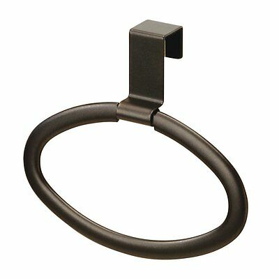 InterDesign Axis Over-the-Cabinet Kitchen Dish Towel Holder Ring - Bronze