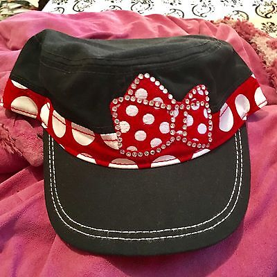 Disney Parks Minnie Bow Cadet Style Adjustable Cap Hat for Adults (NEW) Baseball