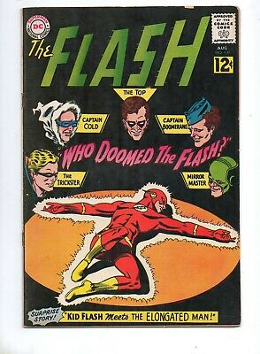 Flash #130 1ST GAUNTLET of SUPER-VILLAINS! FN+ 6.5 TOUGH BLACK COVER! KID FLASH!