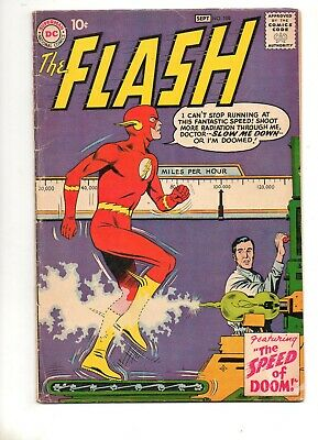 Flash #108 RARE! End Grodd Trilogy; 1959 10c Cover VG/F 5.0 1ST APP MOHRU!