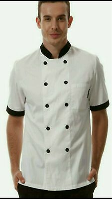 High Quality Double Breasted Short Sleeve Chef Jacket
