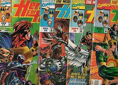 Heroes for Hire #2 3 6 & 7! 1997 1 Set of 4 LUKE CAGE & IRON FIST BOOKS! Hero