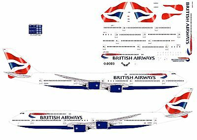 British Airways 747-8 airliner Decal (1:144 scale) For Revell/Zvezda Kit