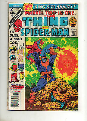 Marvel Two-In-One Annual #2 Death of THANOS! Spider-Man, Thing, Avengers Fn- 5.5