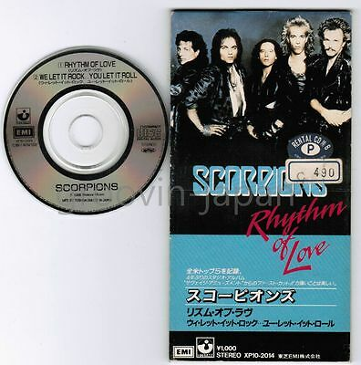 """SCORPIONS Rhythm Of Love /We Let It Rock You Let JAPAN 3"""" CD XP10-2014 Free S&H"""