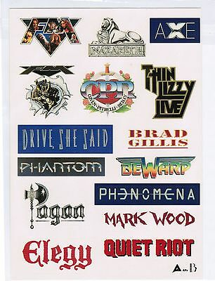 PROMO METAL STICKERS THIN LIZZY/NAZARETH/QUIET RIOT JAPAN Promo-Only item NEW!