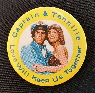 Captain and Tennille Love Will Keep Us Together Collector's Pin Button Flair