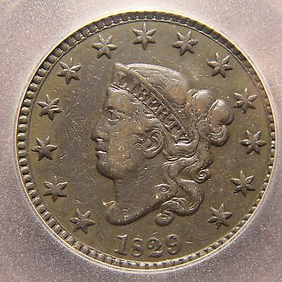 1829 Coronet Head Large Cents, N-1, VF-20, Large Letters