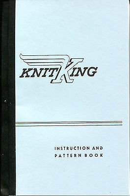 KNITKING Knitting Machine INSTRUCTION & PATTERN BOOK Knittax Old OOP repro LOT Q