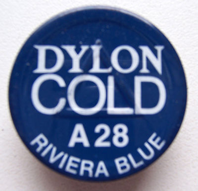 2 X Dylon Cold Fabric Dye # A 28 Riviera Blue New With Instructions
