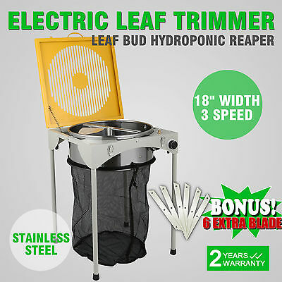 "18"" Hydroponic Leaf Bud Trimmer Electric Spin Pro Stainless Steel Cutting Blades"