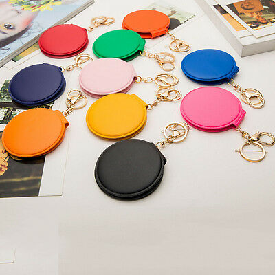 Round Lady Makeup Mirror Portable Compact Pocket Cosmetic Mirror Keyring GS