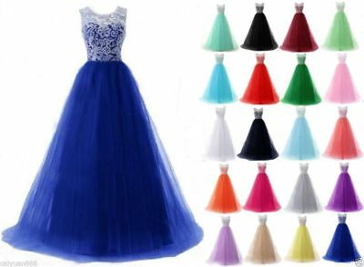 New Lace/Chiffon Bridesmaid Formal Prom Party Ball Gown Evening Dress Size 6-22